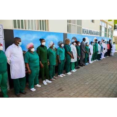SAM apoia a criação do Mural em homenagem aos Profissionais de Saúde do Hospital Polana Caniço